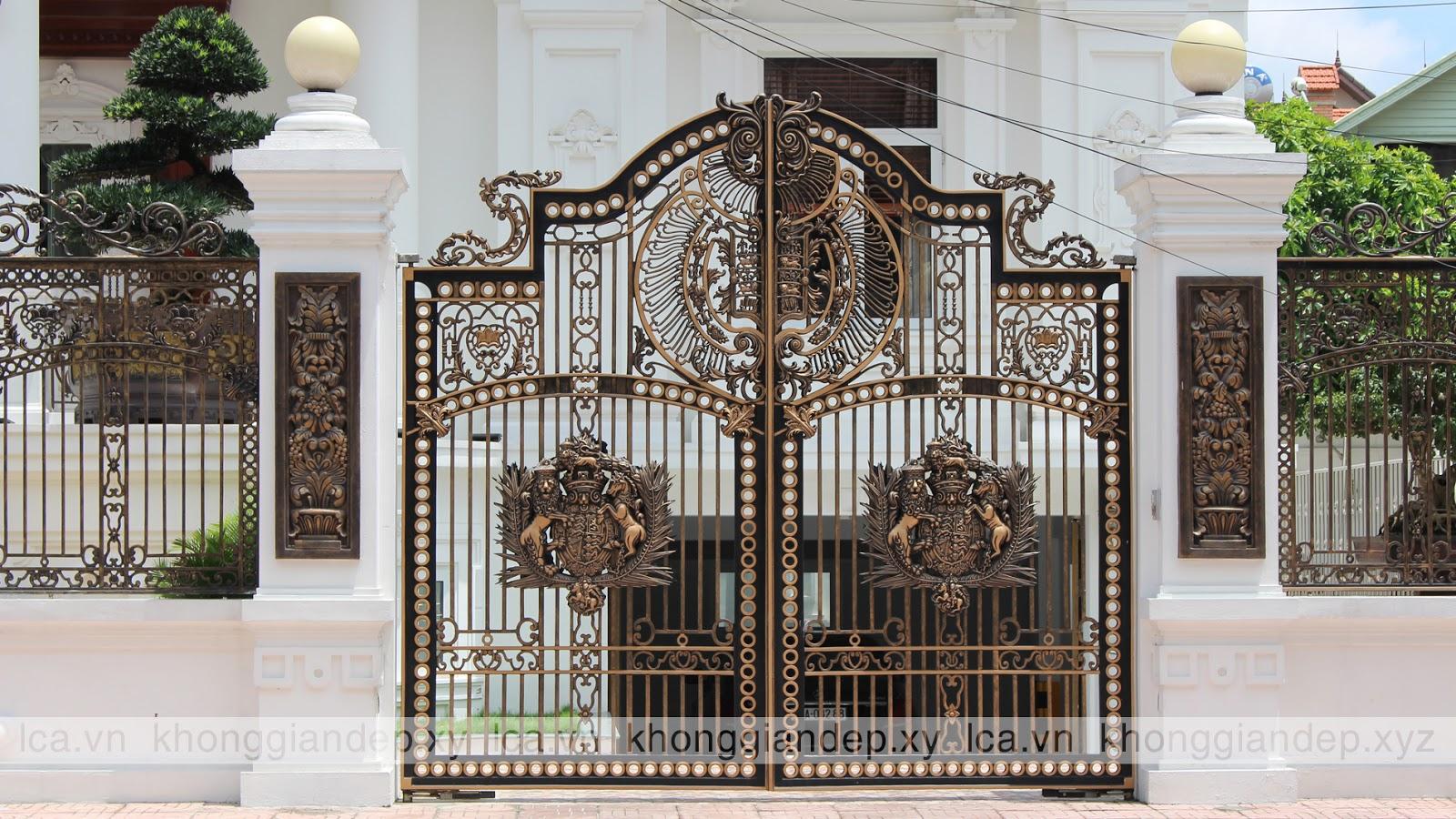 bộ sưu tập mẫu cổng nhôm đúc đẹp