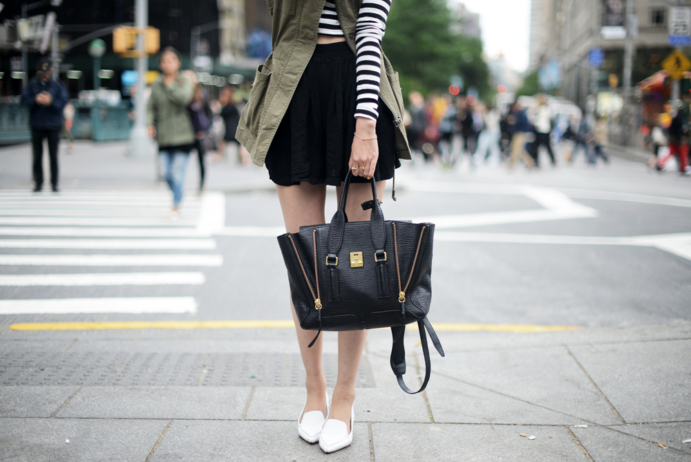 Forevervanny Khaki and Stripes Phillip Lim