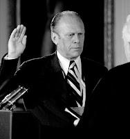 El Presidente Gerald Ford en su toma de posesión