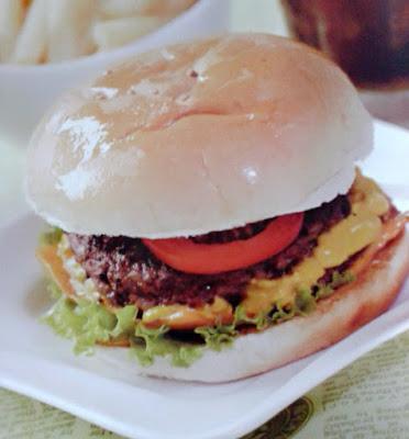 Gambar Resep Burger American Beef