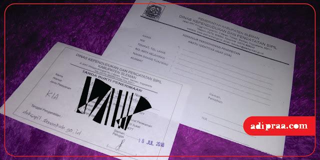Formulir Permohonan Penerbitan & Tanda Bukti Penerimaan | adipraa.com