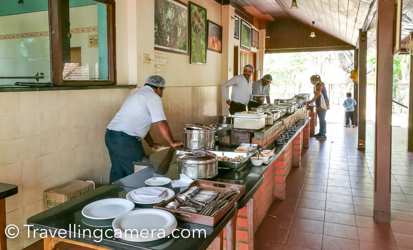 Everyone went to their rooms and assembled in the restaurant for lunch. There was a little break to relax and gear up for the forest safari in KABINI TIGER Reserve.