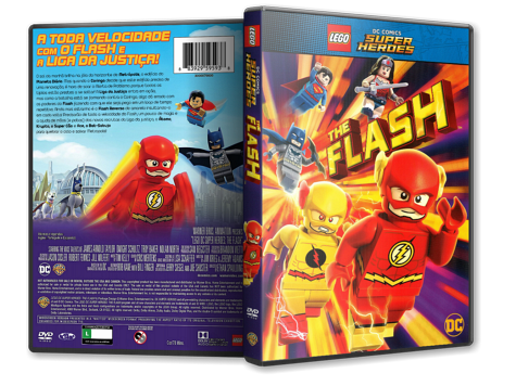 Capa DVD Lego Super Heróis DC: O Flash