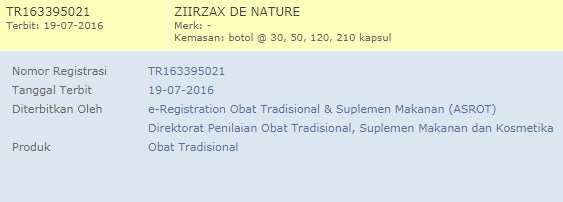 Tr Produk Ziirzax De Nature