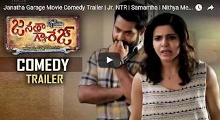Janatha Garage Movie Comedy Trailer  Jr. NTR  Samantha  Nithya Menen