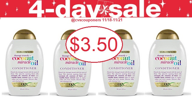 http://www.cvscouponers.com/2018/11/CVS-coupon-Deal-1118-1121-OGX-Shampoo-Conditioner.html