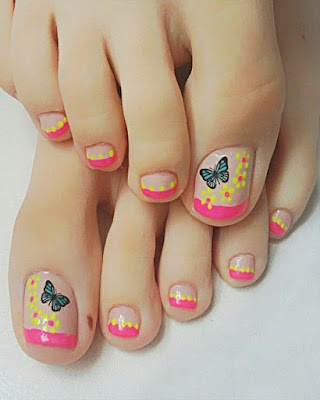 decoracion de uñas pies flores