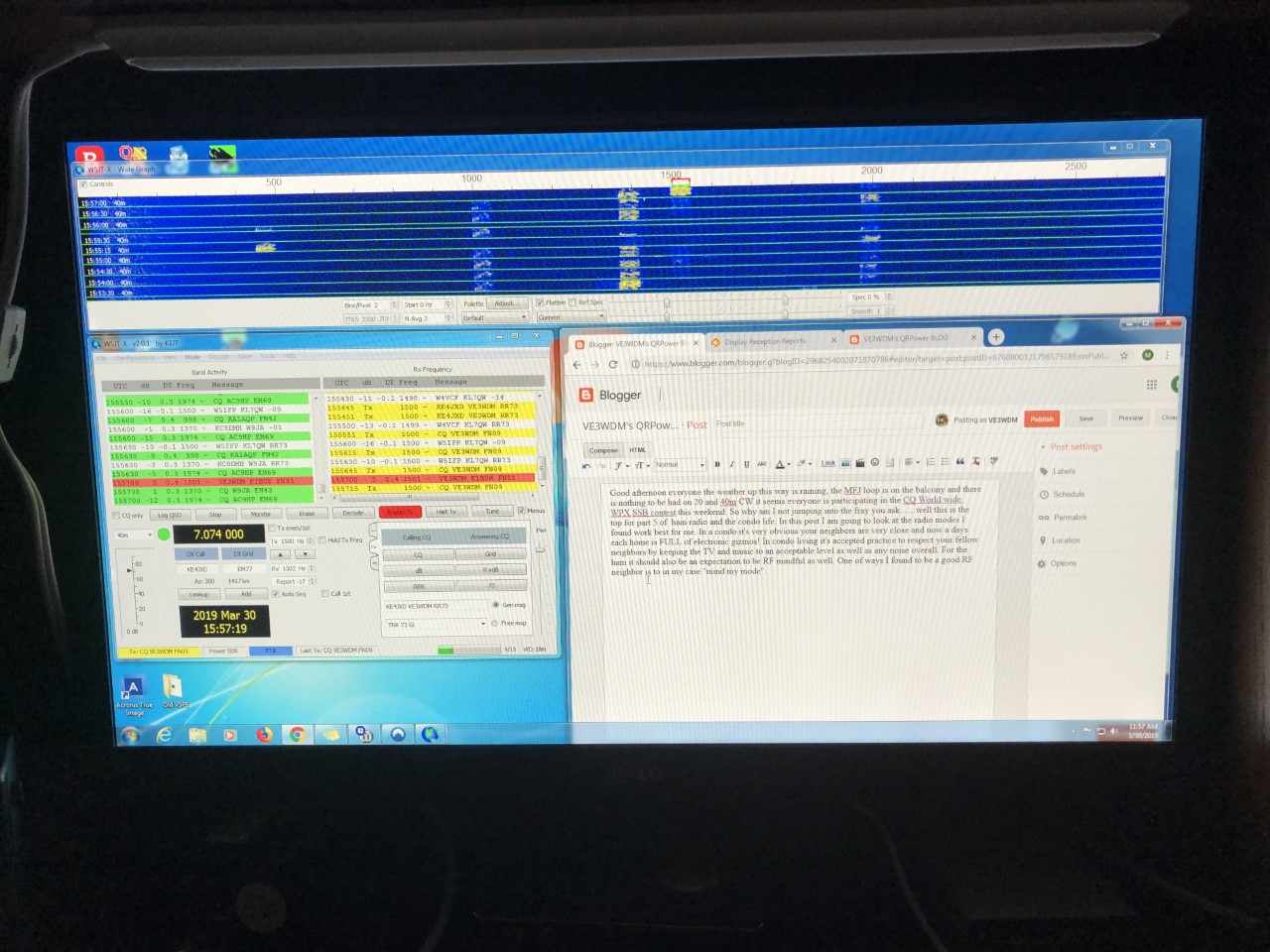 VE3WDM's QRPower BLOG: Part 5 modes for ham radio and the condo life