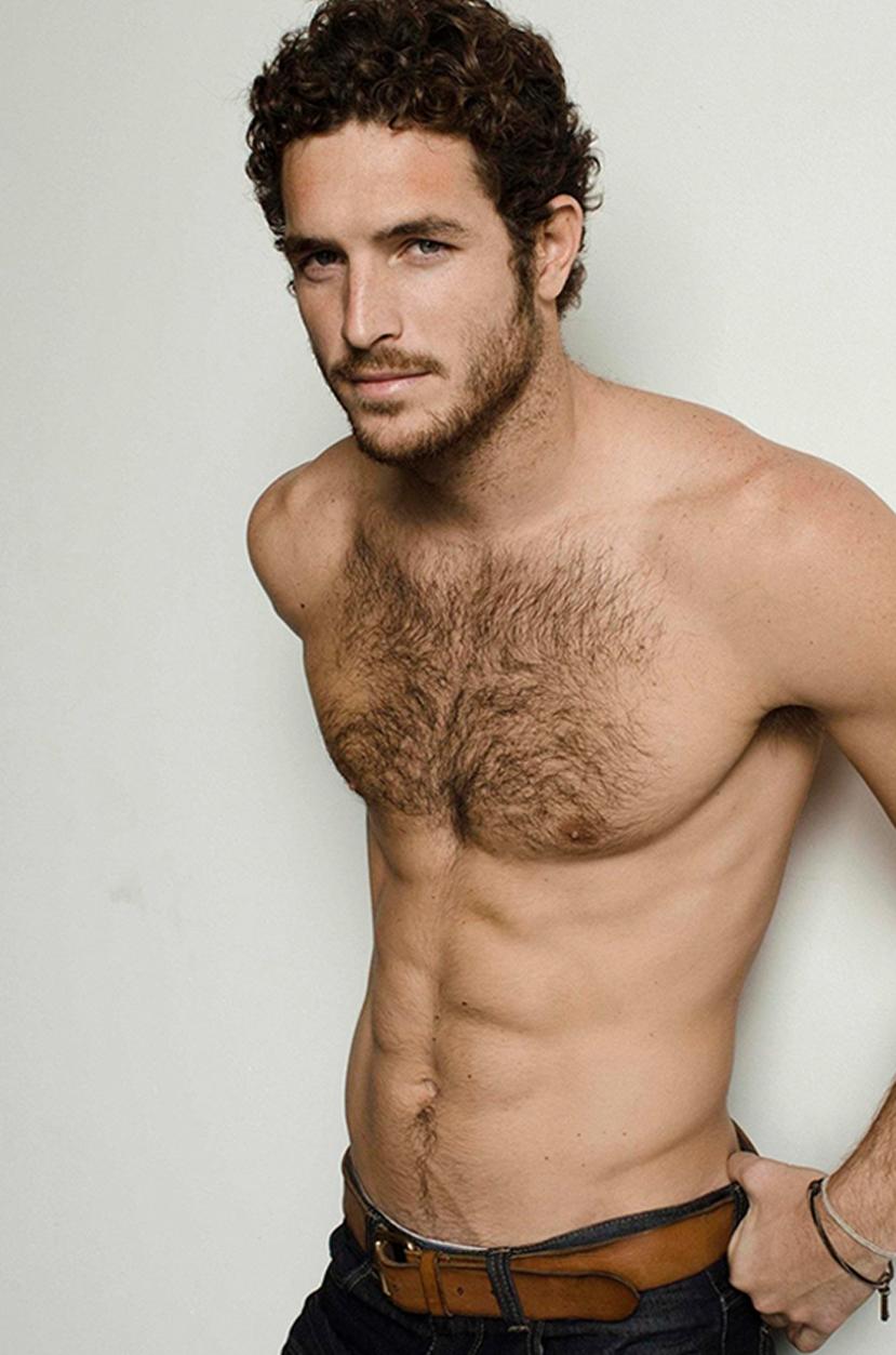Models hairy naked men