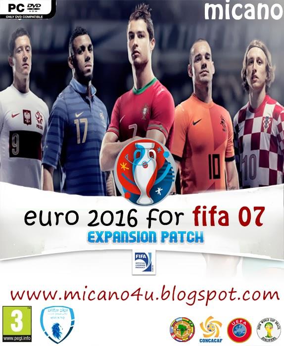 حصريا باتش كأس امم اوروبا 2016 لفيفا 2007 مميز جدا مع تحديثات 2014 - موقع ميكانو
