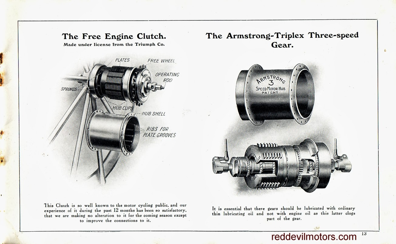 Red Devil Motors 1912 Rover Motorcycles Brochure Buell Rotax Engine Diagram Motor Bicycles Page 13