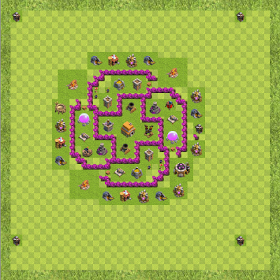 War Base Town Hall Level 6 By Carl John Pattaui (COC vo usa TH 6 Layout)