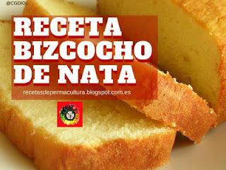 Bizcocho de Nata