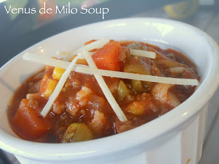 Venus de Milo vegetable beef soup
