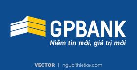 Logo ngân hàng GPPBANK vector