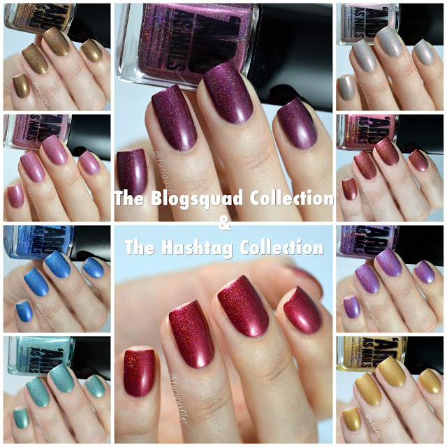 ard as nails hashtag blogsquad collection swatches review