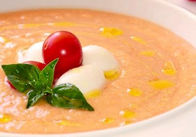 Sopa Fria de Melocotón