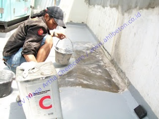 waterproofing coating pada atap dak dengan bahan dasar acrylic