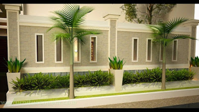 Model Terbaru Pagar Tembok Untuk Rumah Minimalis Gambar 4