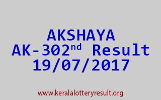 AKSHAYA Lottery AK 302 Results 19-7-2017