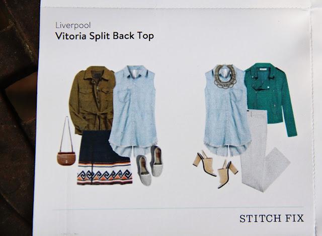 Liverpool Vitoria Split Back Top style card