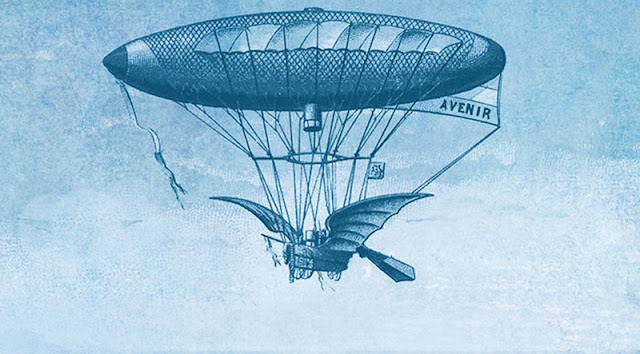19th Century Airships and Balloons picture illustration