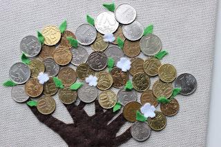 денежное дерево, копеечное дерево, подарок для дома, талисман, хороший подарок, украшение  для интерьера, настроение своими руками, подарок своими руками,  дерево талисман, оригинальный подарок, монетное дерево, монетки