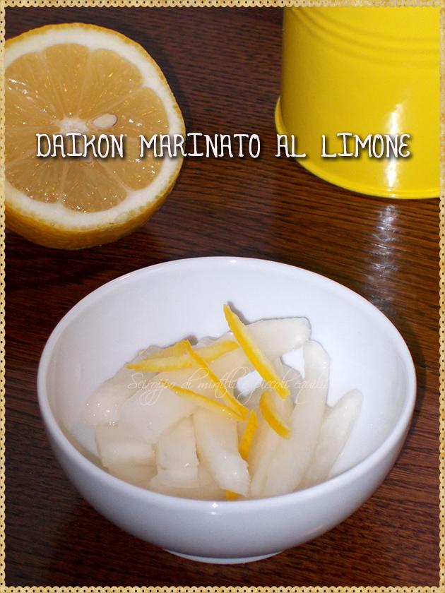 Daikon marinato al limone