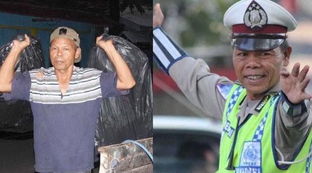 Polisi Jujur Ini Milih Jadi Pemulung