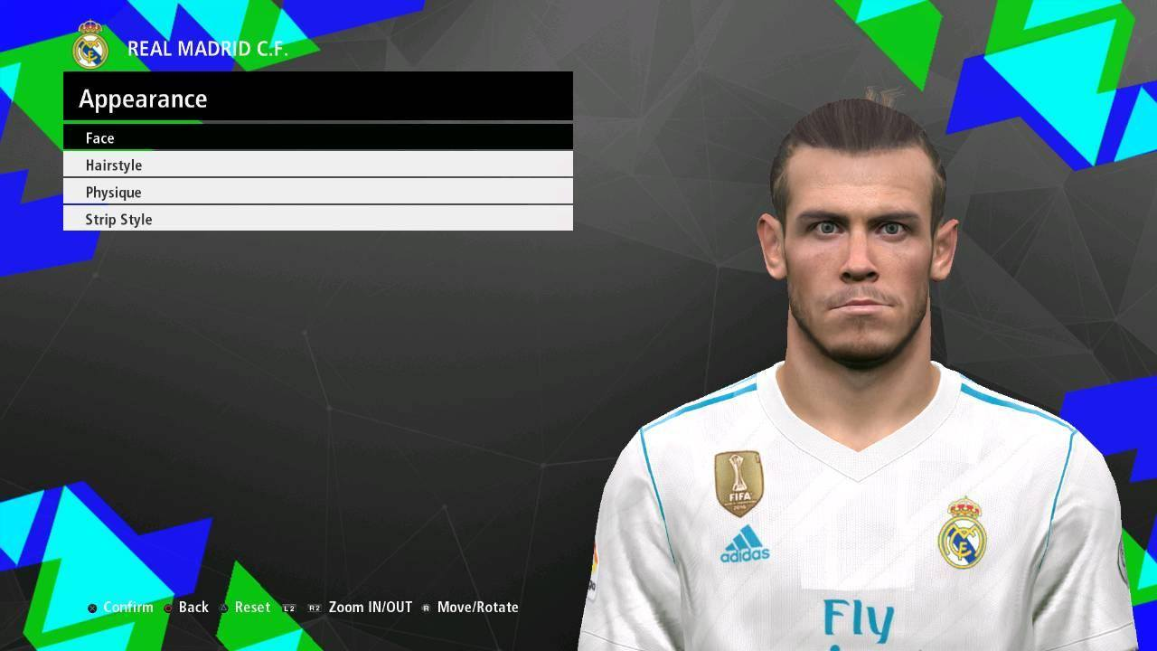 Gareth Bale Face PES 2017 by Dicky