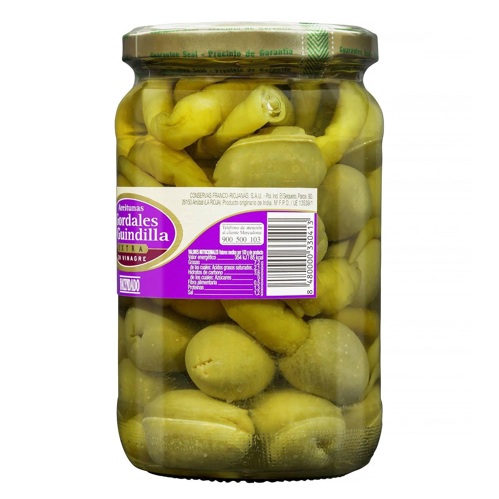 Aceitunas gordales con guindilla extra en vinagre Hacendado