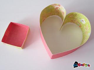costruisci un cuore porta cioccolatini 3d fai da te