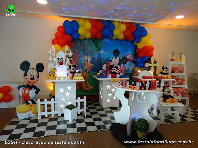 Decoração festa de aniversário Mickey - Mesa provençal