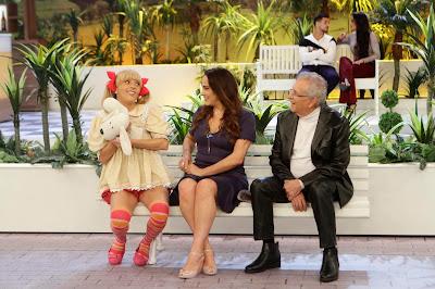Nina, Silvia e Carlos (Crédito: Lourival Ribeiro/SBT)