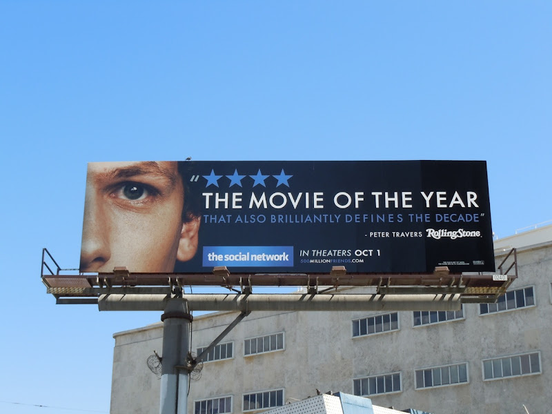The Social network movie billboard