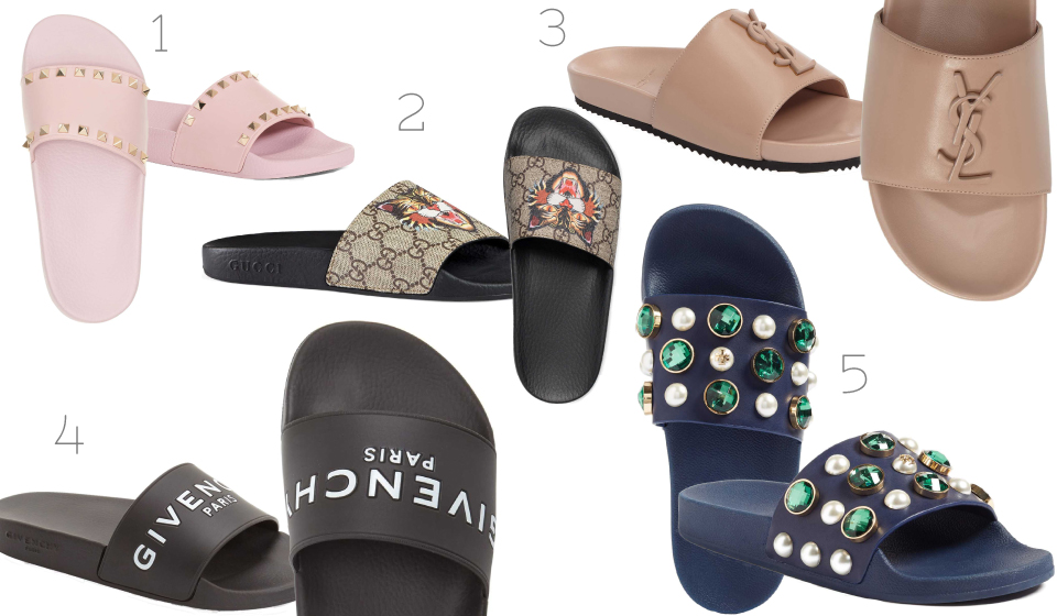 Luxury, Nordstrom, Sandals, slides, Givenchy, Valentino, Gucci, Fashion, Footwear, casual, blogger