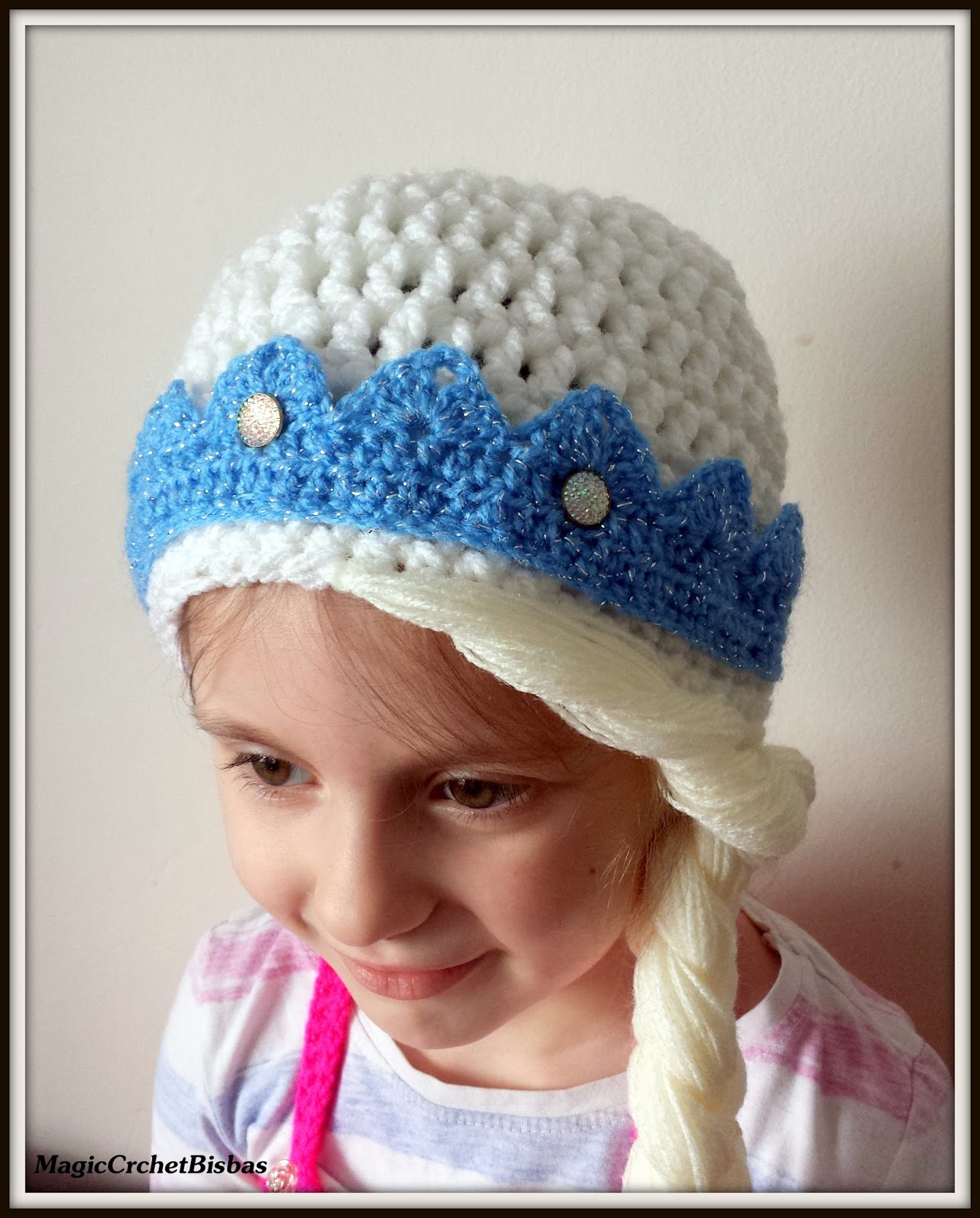 Frozen Inspired Elsa Crochet Cap Beanie Hat Photo Prop Fancy Dress