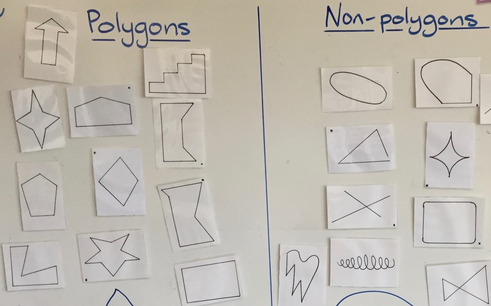 Authentic Inquiry Maths Polygons And Non Polygons