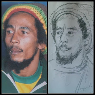 Mary Ogochukwu Drawing of Bob Marley