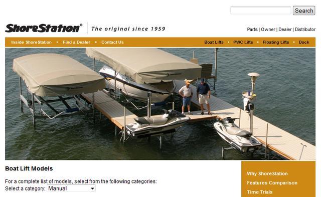 ShoreStation Boat Lifts
