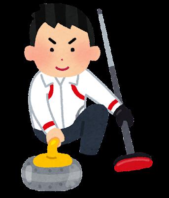 カーリング選手のイラスト(男子)