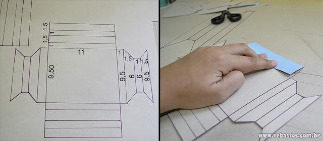 Moldura de quadro fácil usando cartolina