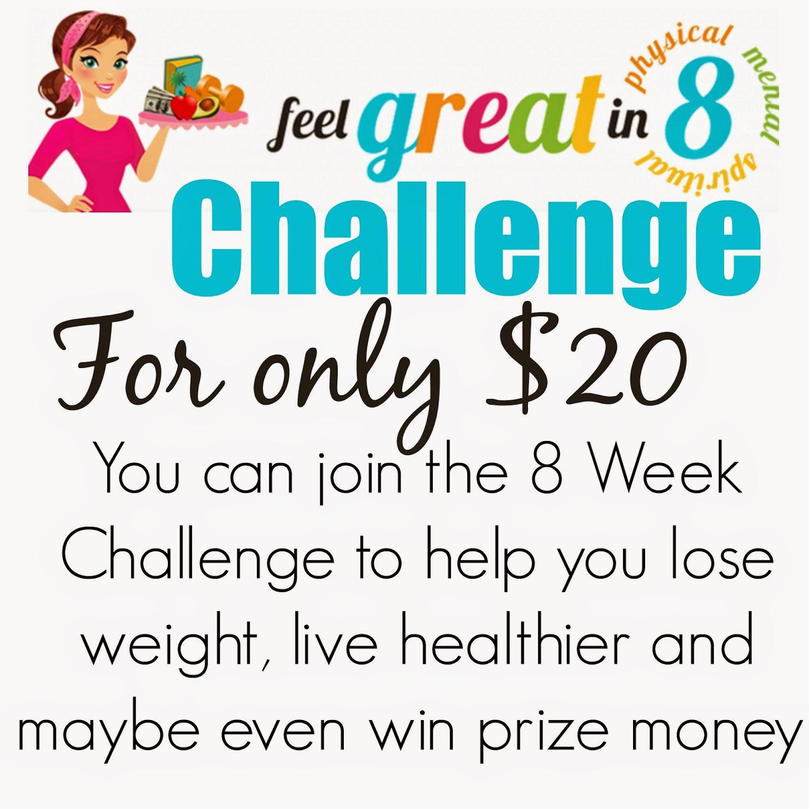 Today's Taste: 8 Week Weightloss Challenge!