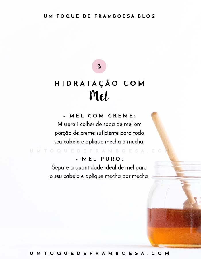 Como fazer hidratação caseira com mel