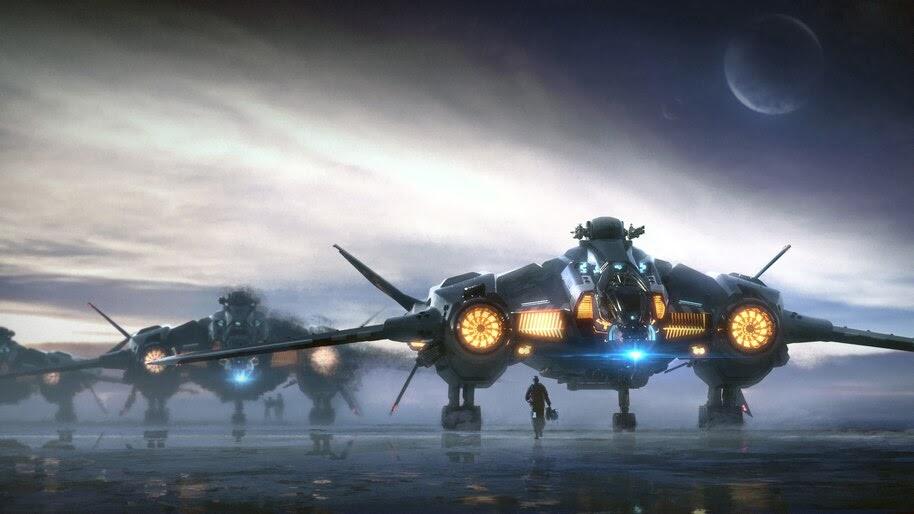 Sci-Fi, Star Citizen, Aircraft, 4K, #4.16