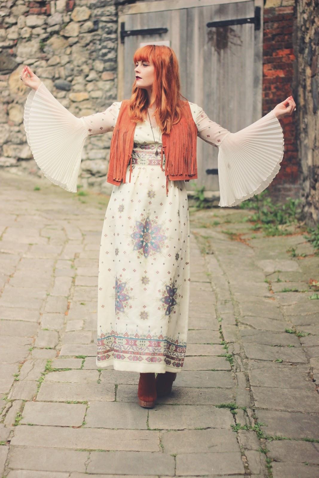 70s Vintage Bohemian Festival Outfit