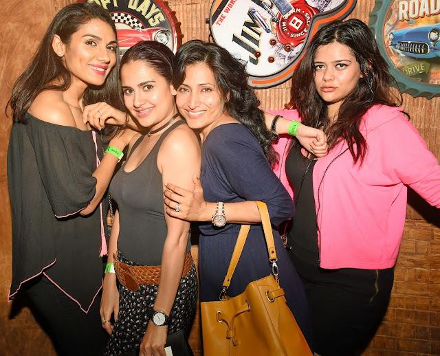 Liza Malik with friends at R- Adda