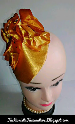 Gold wedding fascinators in Kenya