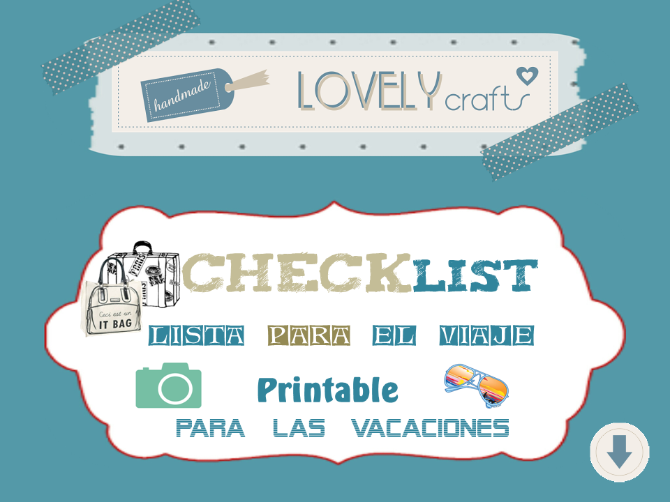 Lovely Crafts -DIY: Lista de viaje. Checklist. Imprimible para ...
