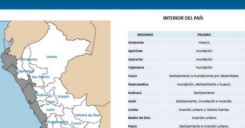 14 regiones del país participarán hoy en Simulacro Multipeligros, informó el Instituto Nacional de Defensa Civil